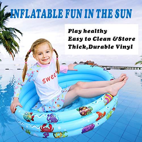 Gupamiga Kiddie Pool Sunset Glow Baby Pool Inflatable Pool Kiddie Pool Baby Pool Swimming Pool in Summer Outdoor & Indoor Use for Kids Boys & Girls