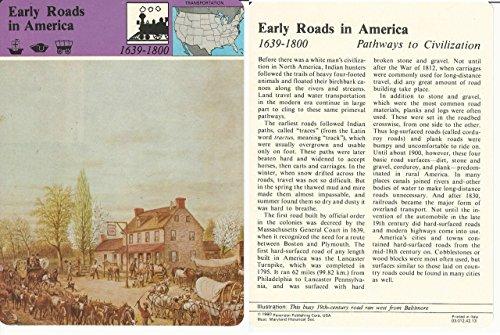 1979 Panarizon, Story Of America, 42.13 Early Roads In America, Baltimore