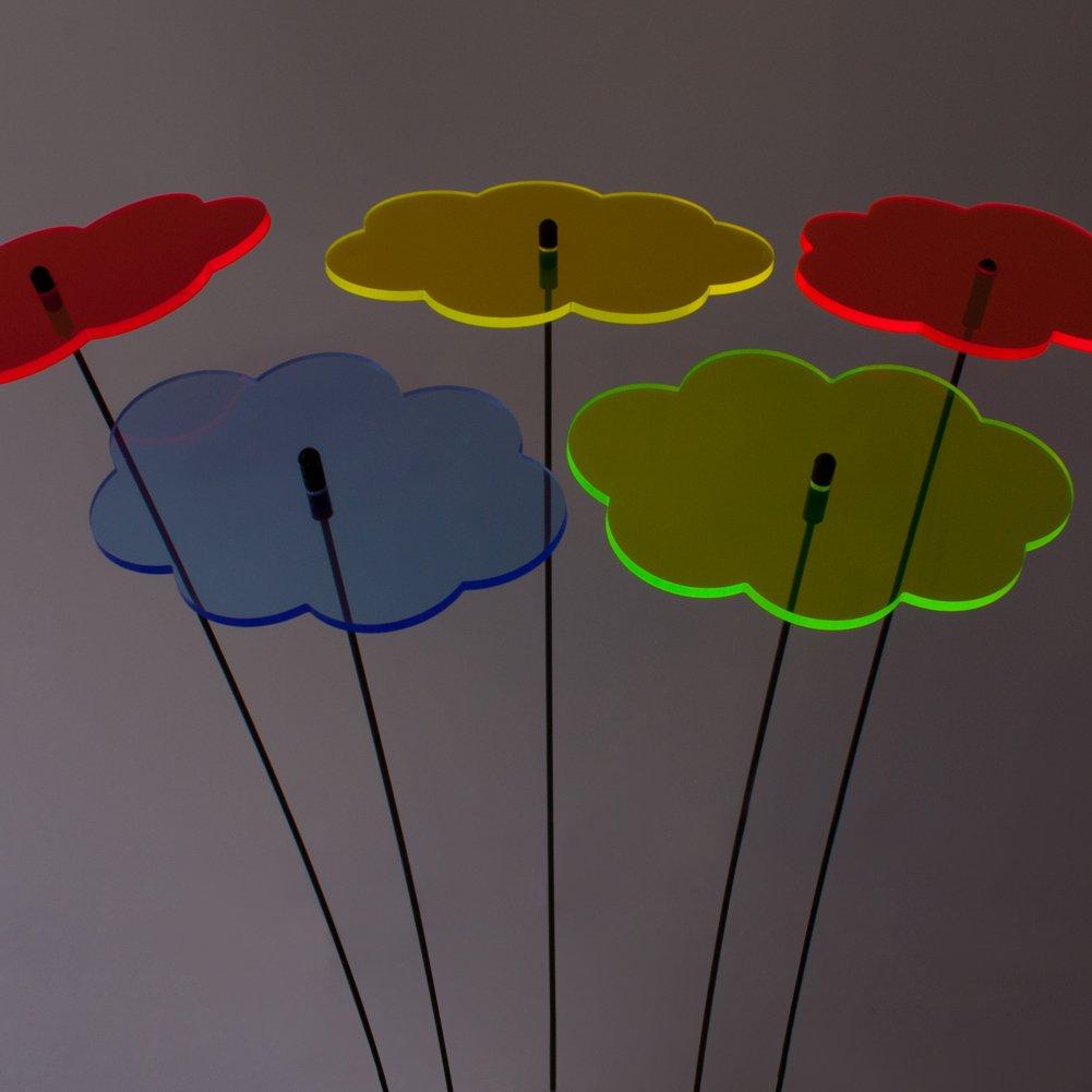 SUNPLAY Sonnenf/änger Wolken im Farbmix 5 St/ück zu je 20 cm Durchmesser im Set 70 cm Schwingst/äbe