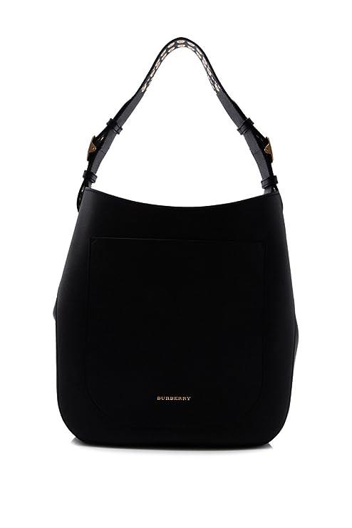 Burberry Women s Stud Detailed Textured Shoulder Bag Black  Amazon.ca   Luggage   Bags a7cbe78e30