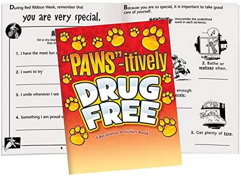 PAWS-itively Drug Free Educational Activities Book- Includes 50 Books Per Pack