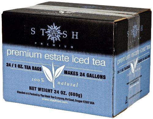 Stash Tea Premium Estate Iced Tea 1 Ounce Iced Tea Brew Bags (Pack of 24) Black Tea Bags for Brewing Iced Tea, One Bag Makes 3 Quarts of Iced Tea, Drink Sweetened or Plain