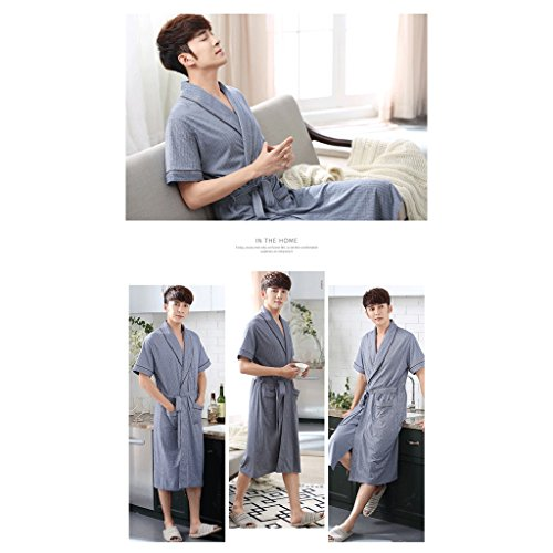 Men Slender Gaolili Short Taglie Robe Sleep Forti Summer A Accappatoi Sleeve qPSwCx