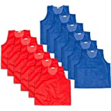 Trademark Innovations Set of 12 Mesh Practice Jersey-Great for Children's Soccer Teams and Sports Practice