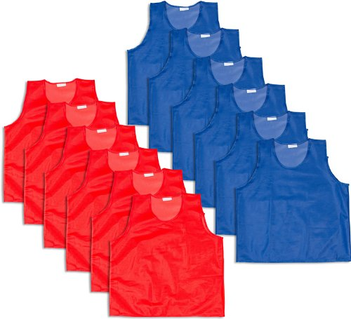 Uniforms & Apparel 12 Pack BlueDot Trading Youth Sports Pinnies