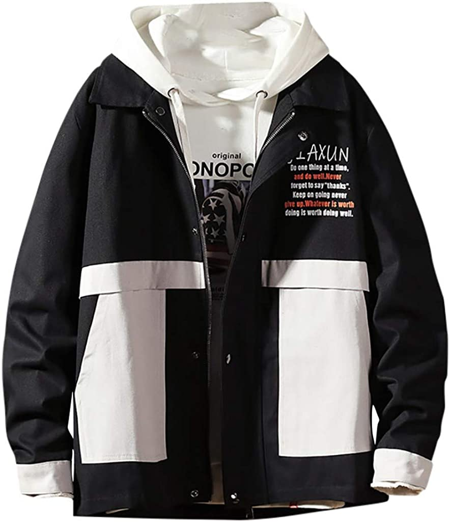 Palarn Hooded Pullover for Men in Autumn and Winter Fashion Large-Size Pure-Color Coat