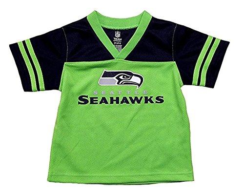 Seattle Seahawks Green NFL Infants Team Apparel V Neck Jersey (18 ()