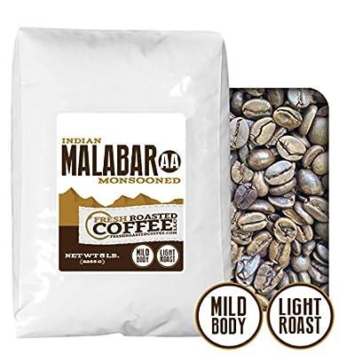 Fresh Roasted Coffee LLC, Indian Monsooned Malabar Coffee, Light Roast