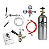 HomeBrewStuff Door Mount Kegerator Keg Tap Conversion Kit w/Sanke Coupler, Pro Series Regulator, and 5 LB Co2 Tank 1CH-D-PR-T