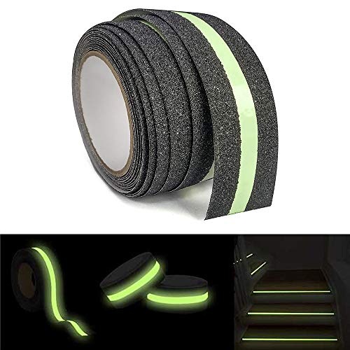 Anti Slip Grip Tape Glow In Dark Green Luminous Safety Tread Tape Abrasive For Stairs Step Outdoor 2'' Wide x 16.4ft Long