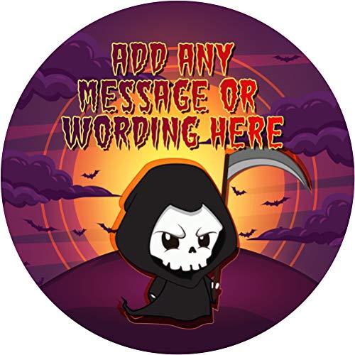 Halloween Skeleton Grim Reaper Sticker Labels (24 Stickers,