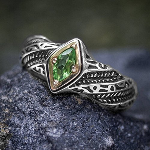 Green Garnet Wedding Ring