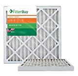 AFB Bronze MERV 6 20x20x2 Pleated AC Furnace Air Filter. Pack of 2 Filters. 100% produced in the USA.