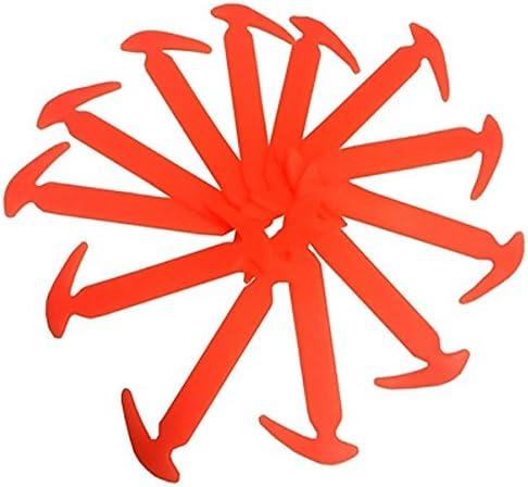結ばない靴ひも かぎづめ型 小さめサイズ 女性/子供用スニーカーなどに! オレンジ AP-TH556-OR 入数:1セット(12本)