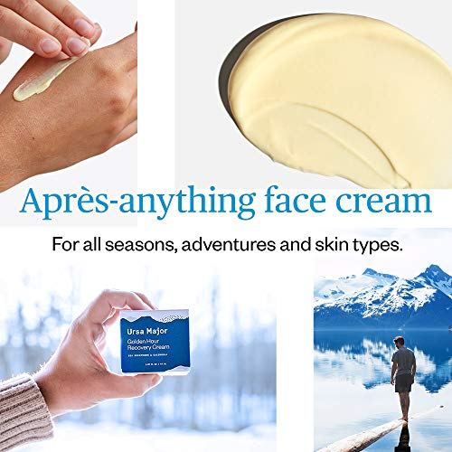 Ursa Major Golden Hour Recovery Cream   Natural Face Moisturizer with Calendula and Sea Buckthorn   Vegan, Cruelty-Free, Non-toxic   1.57 ounces