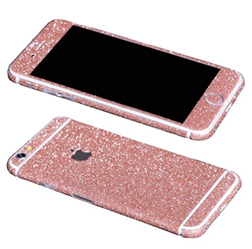 Just Mode(TM)Glittering Style Full Body Bling Glitter Film Sticker Case Cover Protector for Apple iPhone 6 Plus 5.5-Pink (Bling Case Pink Iphone6)