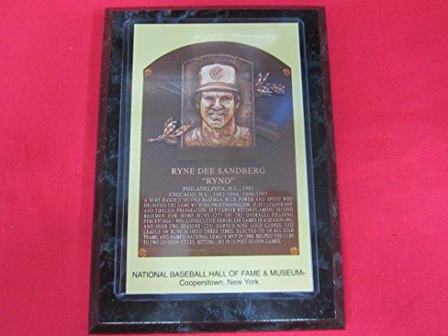 (Ryne Sandberg 2005 Hall of Fame Induction Postcard Plaque NEW!!)