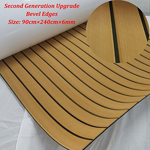 yuanjiasheng New Design EVA Faux Teak Decking Sheet For Boat Yacht Non-Slip Marine Flooring Mat 94.5
