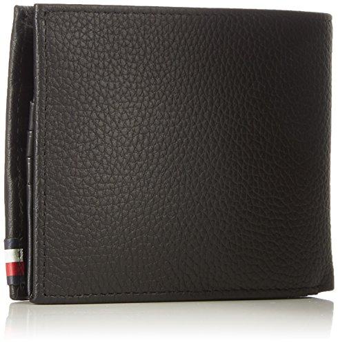 Men's Tommy T amp; Leather Cc Soft 3x12x9 Hilfiger H Coin x B Black Wallet 6999999999999993 Flap x cm B0qrBT