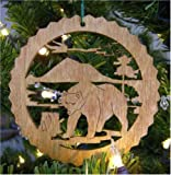 Bear Wooden Christmas Ornament