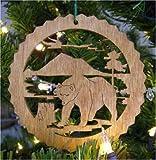 Bear Wooden Christmas Ornament
