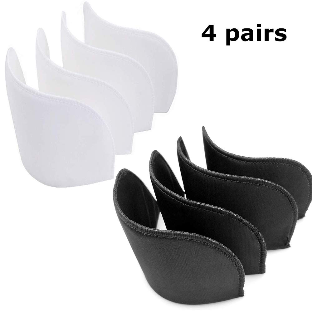 Medium Shoulder Pads,4 Pairs 1//2 Covered Set-in Shoulder Pads Sewing Foam Pads for Blazer T-Shirt Clothes 2 Pairs White and 2 Pairs Black