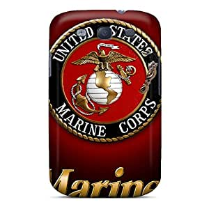 Durable Case For The Galaxy S3- Eco-friendly Retail Packaging(usmc Logo)