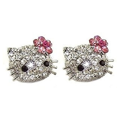 Wrapables Large Kitty Stud Earrings