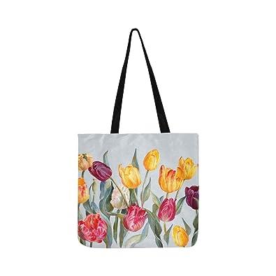 Amazon.com: Bolso bandolera con diseño de tulipanes y flores ...