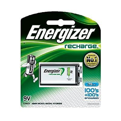 Energizer Rechargeable 9 volt Battery, (NH22NBP)