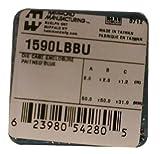 Hammond 1590LBBU Blue Diecast Aluminum Enclosure -- Inches (1.99'' x 1.99'' x 1.06'') mm (51mm x 51mm x 27mm)