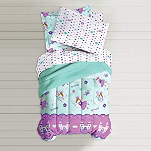dream FACTORY Magical Princess Comforter Set, Twin, Blue