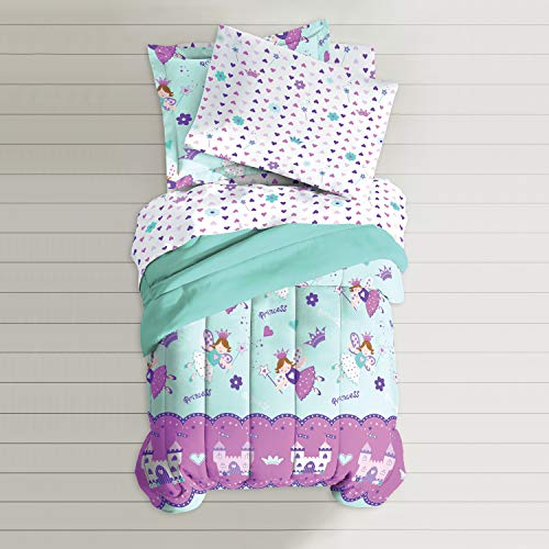 Dream Factory Magical Princess Comforter Set, Twin, Blue ()