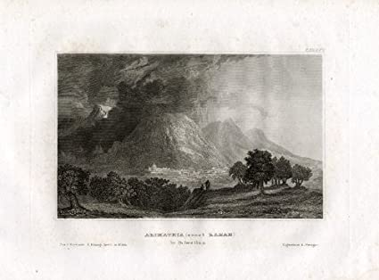 Antique Print-arimathea-ramah-israel-meyer-1837 Art Maps, Atlases & Globes