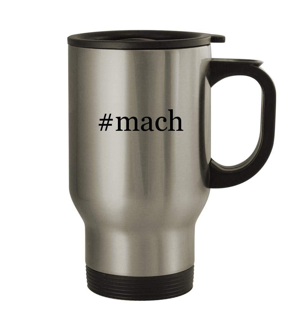 #mach - 14oz Sturdy Hashtag Stainless Steel Travel Mug, Silver