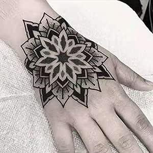 tzxdbh 5PCs-Etiqueta engomada del Tatuaje Impermeable Rose Moon ...