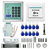 RFID Door Access Control System Kit, 620LBS Electric Door Lock Magnetic Access Control Fobs Password System Set Full