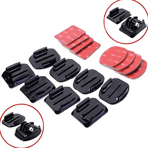 Price comparison product image Lishuai 8Pcs Flat Curved Adhesive Mount Helmet Accessories For Gopro Hero 1 / 2 / 3 / 3+ Kit