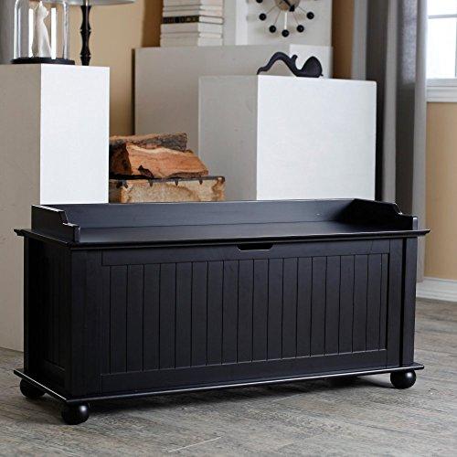 Belham Living Morgan Traditional Flip Top Storage Bench - Black