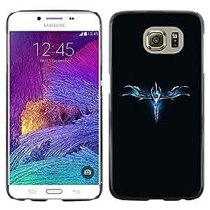 Blue Abstract - Metal de aluminio y de plástico duro Caja del teléfono - Negro - Samsung Galaxy S6 / SM-G920 / SM-G920A / SM-G920T / SM-G920F / SM-G920I