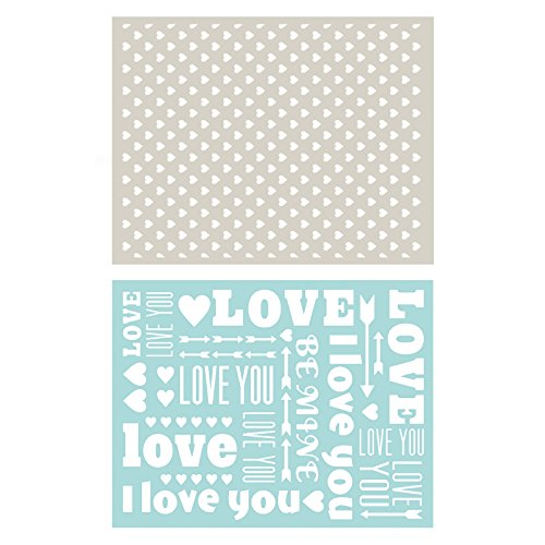 (QUICKUTZ Lifestyle Crafts EF0009 Sweetheart Embossing Folder, 2-Pack)