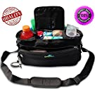 Universal Stroller Organizer Bag with Premium Shoulder Strap and Insulated Cup Holders. Fits Umbrella, Single with Ease. Increase Your Storage Capacity With This Extra Large and Spacious Organizer