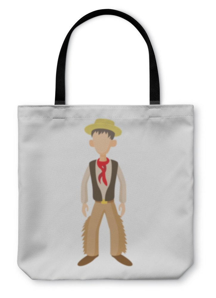 Gear New Shoulder Tote Hand Bag, Man In Traditional Costume Of Argentine Icon, 18x18, 5645104GN