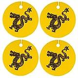 Set of Four Chinese Zodiac, Dragon, Air Fresheners, Cedarwood Essential Oil