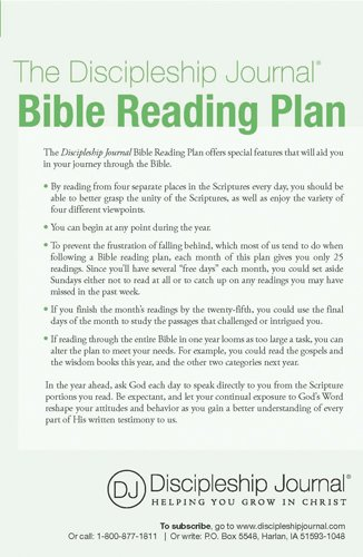 The Discipleship Journal Bible Reading Plan 25-pack