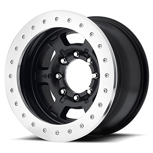 Chamber Pro II 17 Black Wheel / Rim 6x5.5 with a -24mm Offset and a 108 Hub Bore. Partnumber AX75779060624N (American Racing Pro Series)