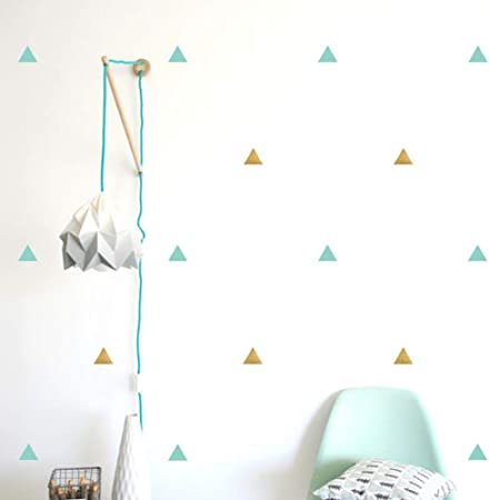 couleurs et frappant Vente chaude 2019 prix favorable Stickers muraux triangles pour chambre d'enfants chambre de ...