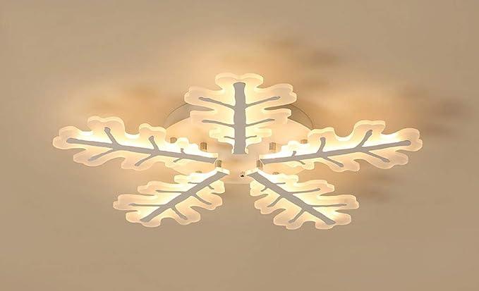 Lámpara de techo elegante en forma de copos de nieve LED 5 ...