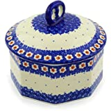 Polish Pottery Jar with Lid 6-inch