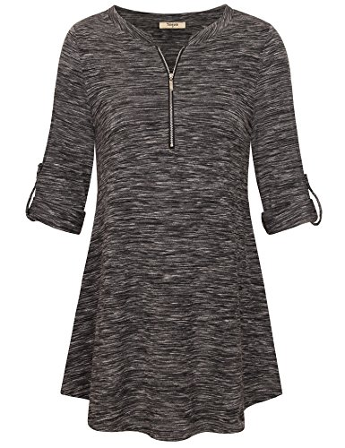 V-neck Knit Tunic - 6